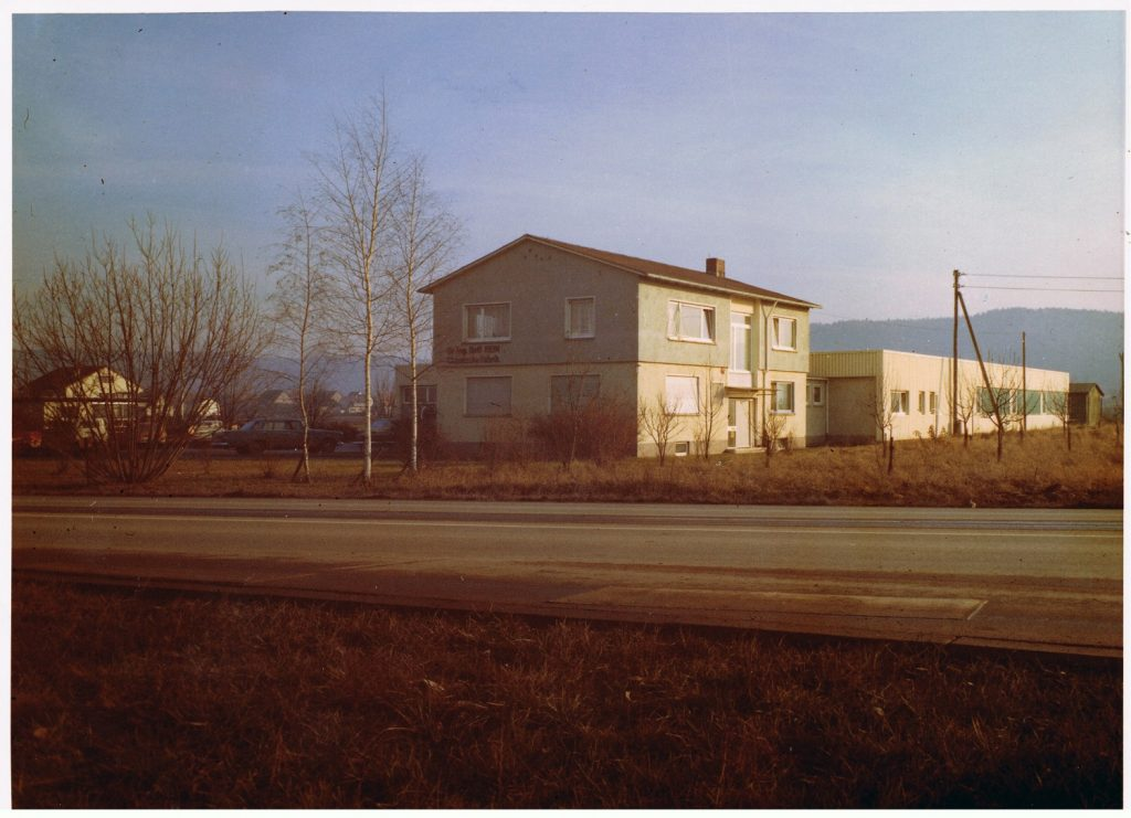The company buildings of PUSTEFIX in the 70s